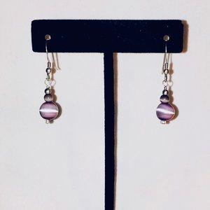 ‼️SOLD‼️Cat's Eye & Sterling Silver Earrings
